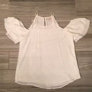 White off the shoulder GB top